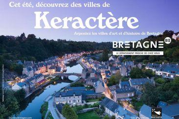 Photo en drone des villes bretonnes pendant la nuit