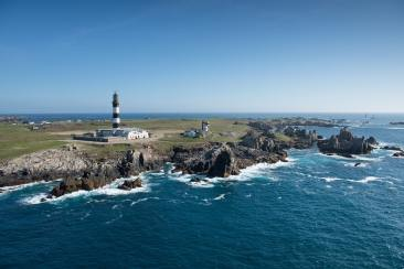 Vue aérienne du phare de Créac'h