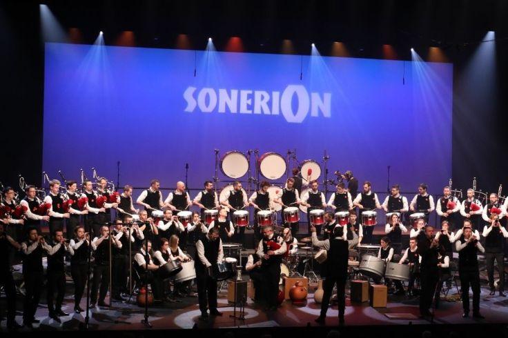Les musiciens au championnat de France des bagadou