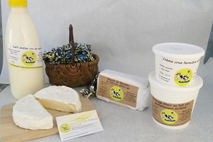 Exemple de produits de la ferme Meugh'lait