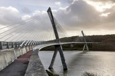 Une vue sur le pont de l'Iroise