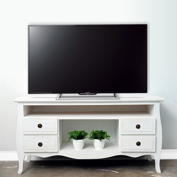mueble tv vintage 1,20 blanco