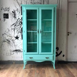 Mueble Aparador / Vitrina Londres Verde Cuba