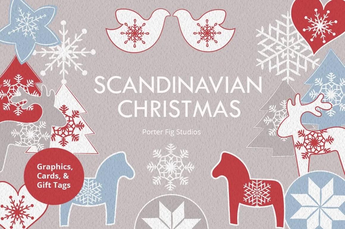 Scandinavian Christmas Design Set