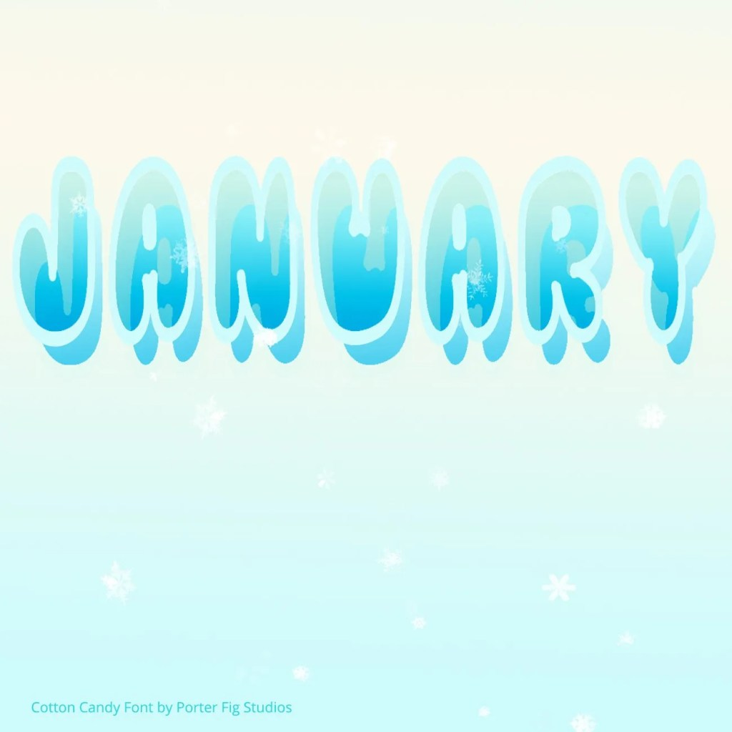 january hand lettered by porter fig studios