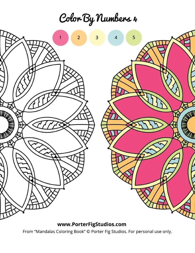 mandala coloring page 4 by porter fig