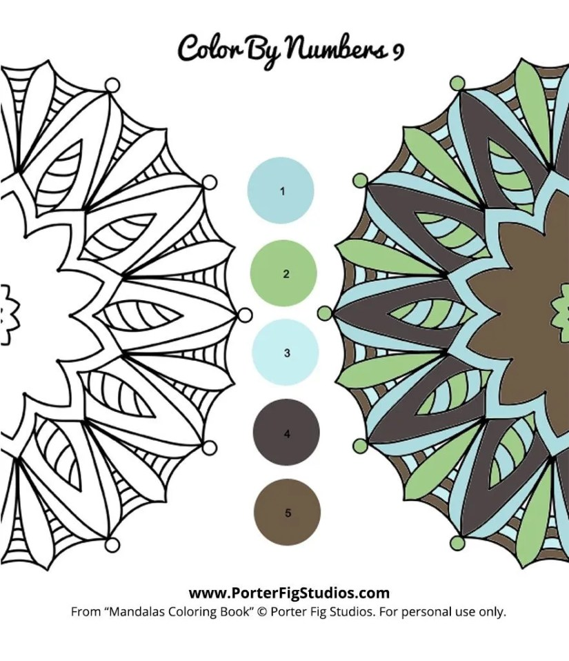 mandala coloring page 9 by porter fig