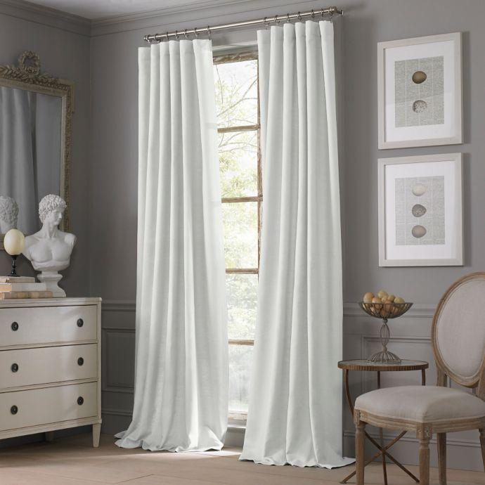 valeron estate cotton linen 95 inch window curtain panel in white