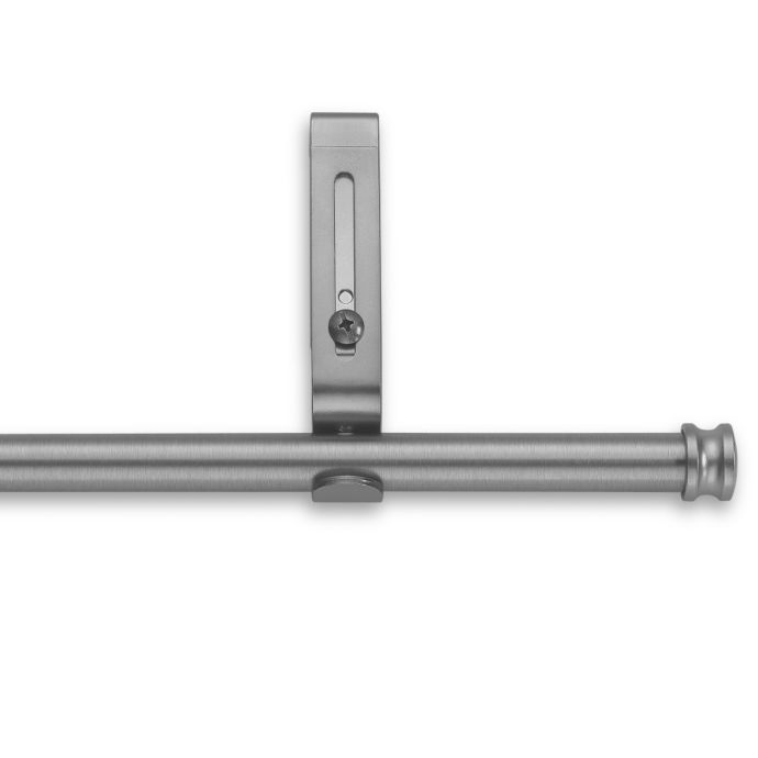 cambria r premier complete decorative 28 inch to 48 inch drapery rod in brushed nickel