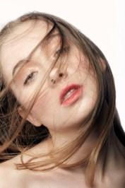 Clean Beauty studio shoot of model