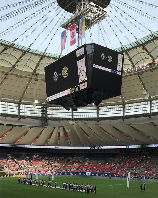 #Vancouver #whitecapsfc vs. Columbus Crew @bcplacestadium - from Instagram