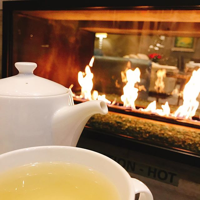 Having #tea by the #fireplace ? #vancouver - from Instagram