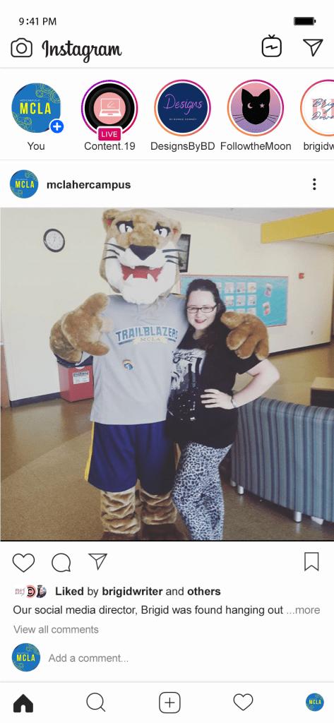 Her Campus Instagram Mock-up 3