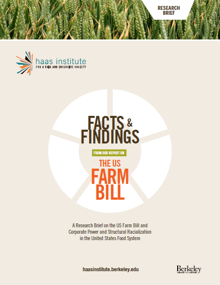 """Facts & Findings: Companion to the Farm Bill Report"" cover"