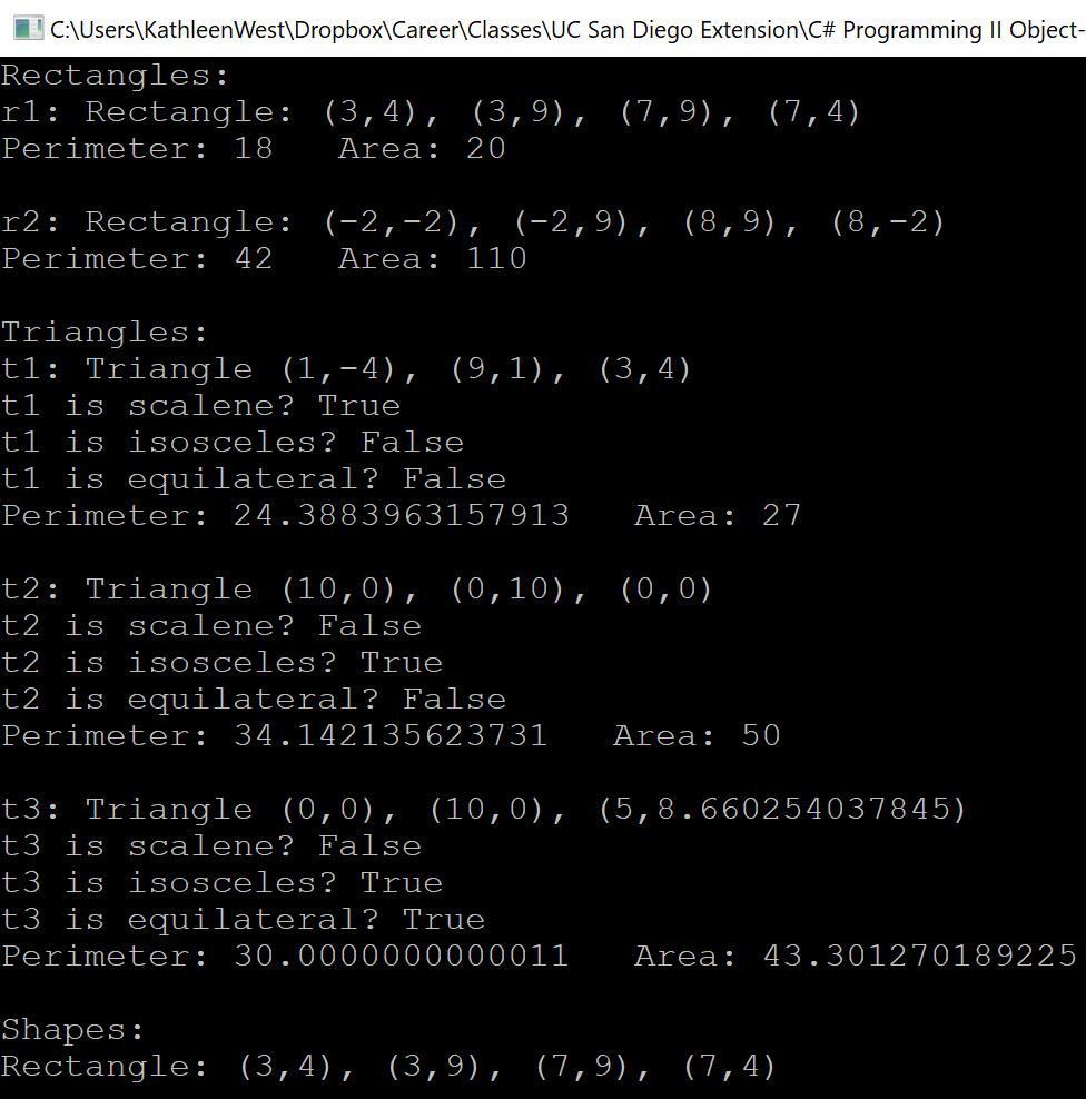 demo of the program output