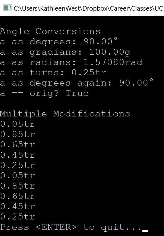 console application output part 2