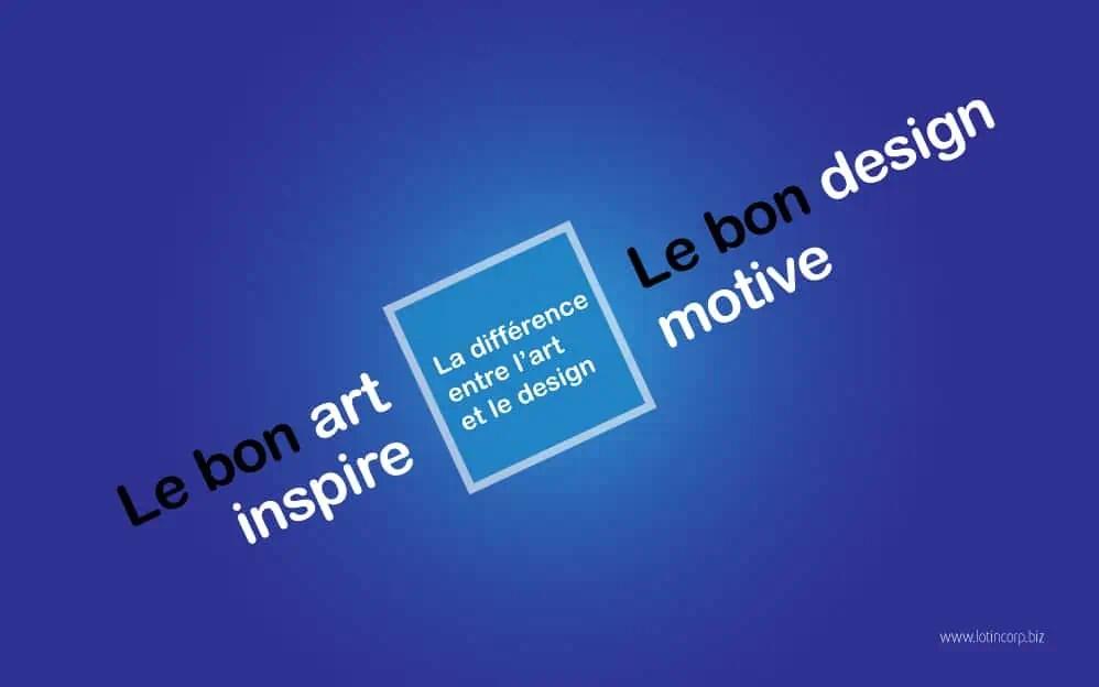 La différence entre l'art et le design (1/6)