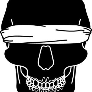 Blindfold skull-z421fz