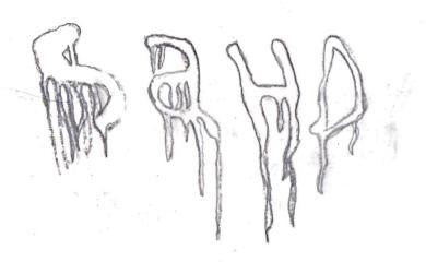 Closeup of sketch