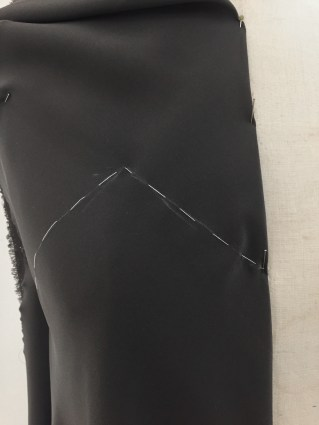 Close-up of thread trace