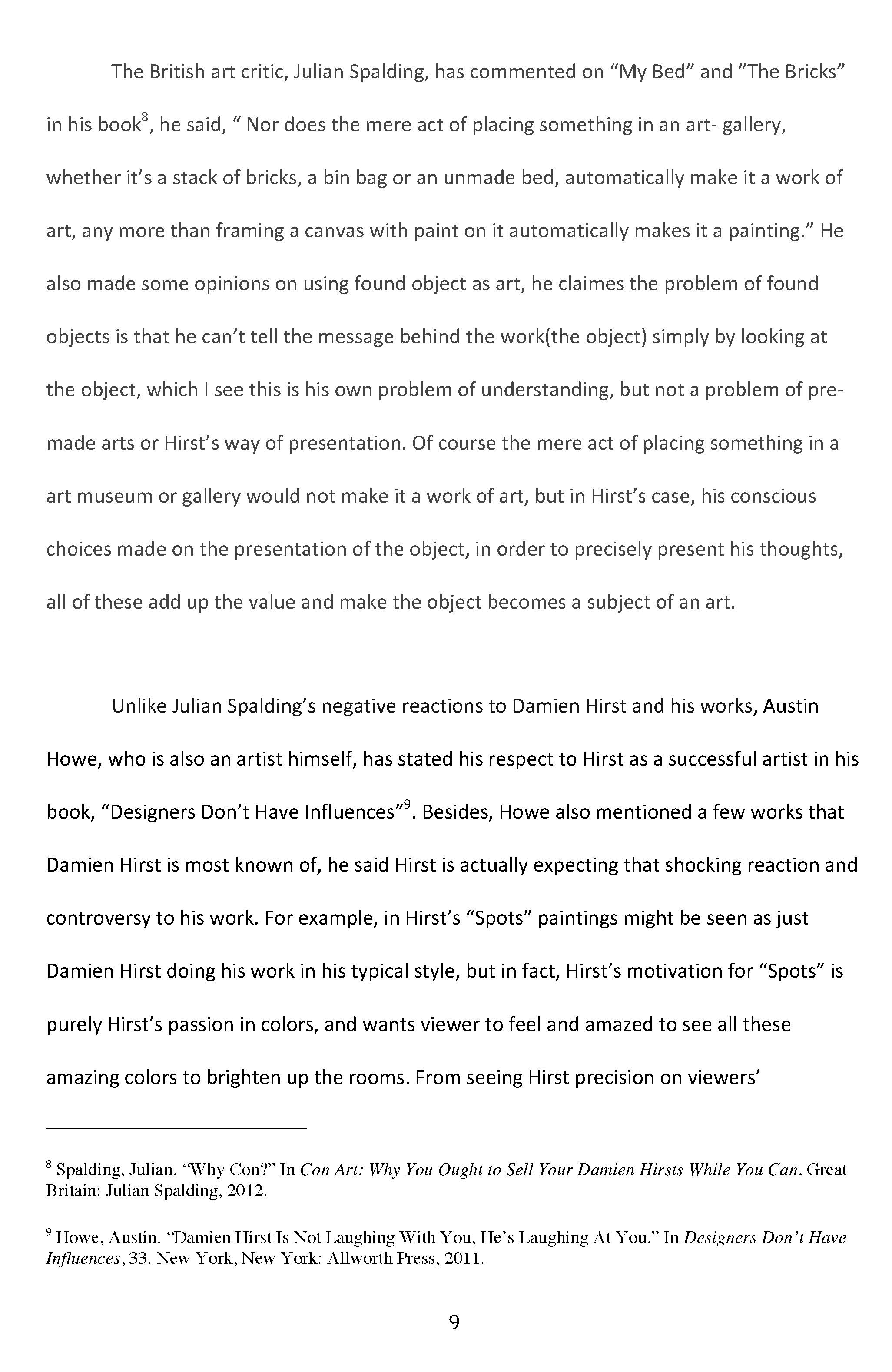 Int Seminar 2 Final Essay Is Damien Hirst A Real Artist