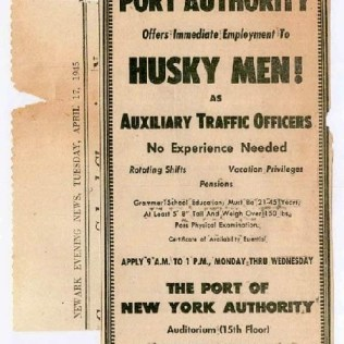 This early notice is representative of how the Port Authority advertised for police recruits in local newspapers.