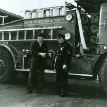 The officers were trained in firefighting techniques.