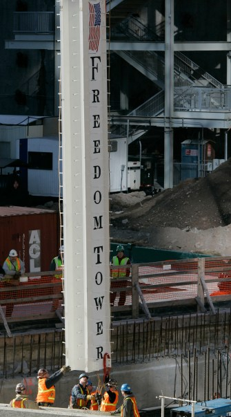 First beam installed One WTC