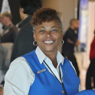 """""""It's always meaningful to help people – that's the joy of being at Travelers Aid!"""" -- Muriel Watkins, volunteer for nearly 10 years and retired Social Services worker after 36 years."""