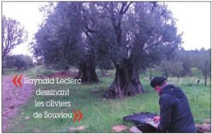raynald-leclerc-dessinant-les-oliviers-de-souviou
