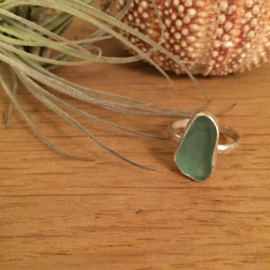 Bespoke turquoise seaglass ring