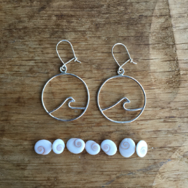 Porth logo as a pair of earrings