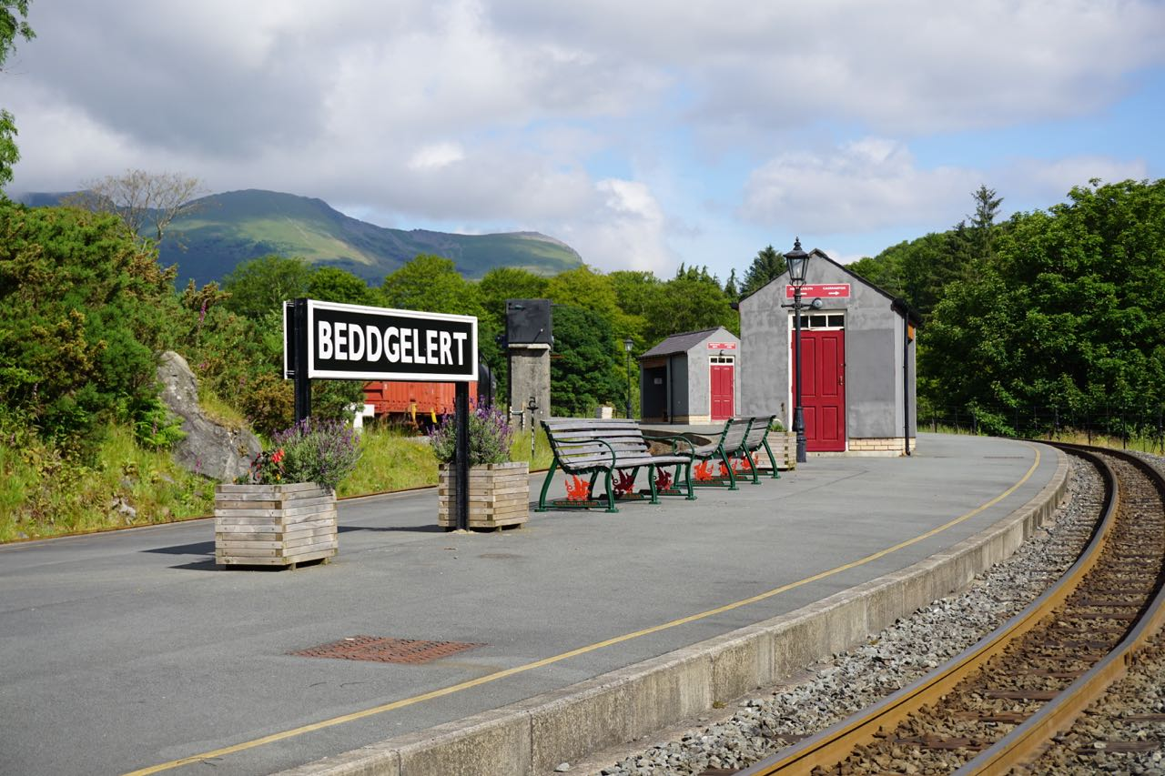 Welsh Highland Railway Station at Beddgelert