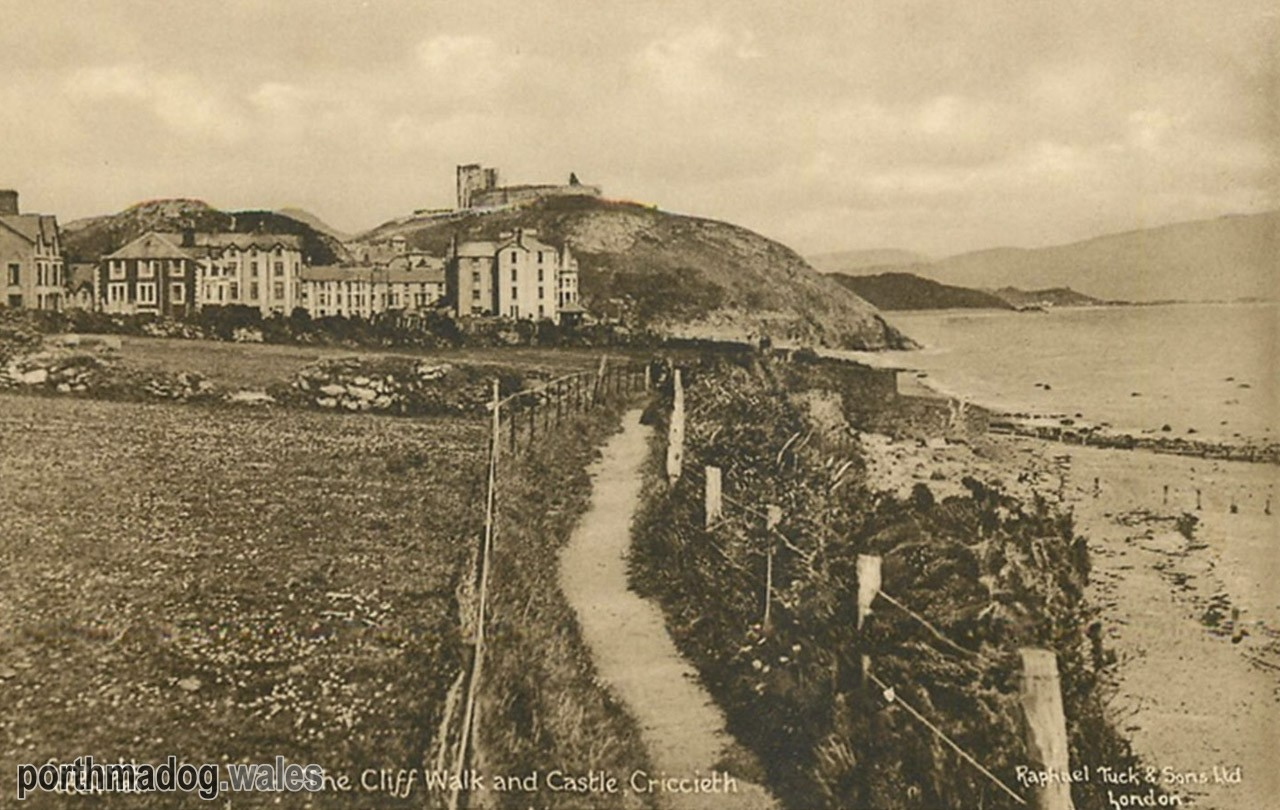 Postcard of The Cliff Walk, Criccieth
