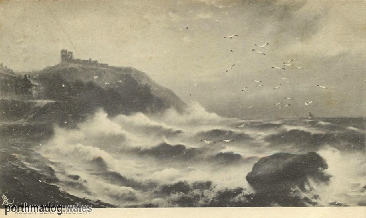 Postcard of Criccieth - Rough Sea