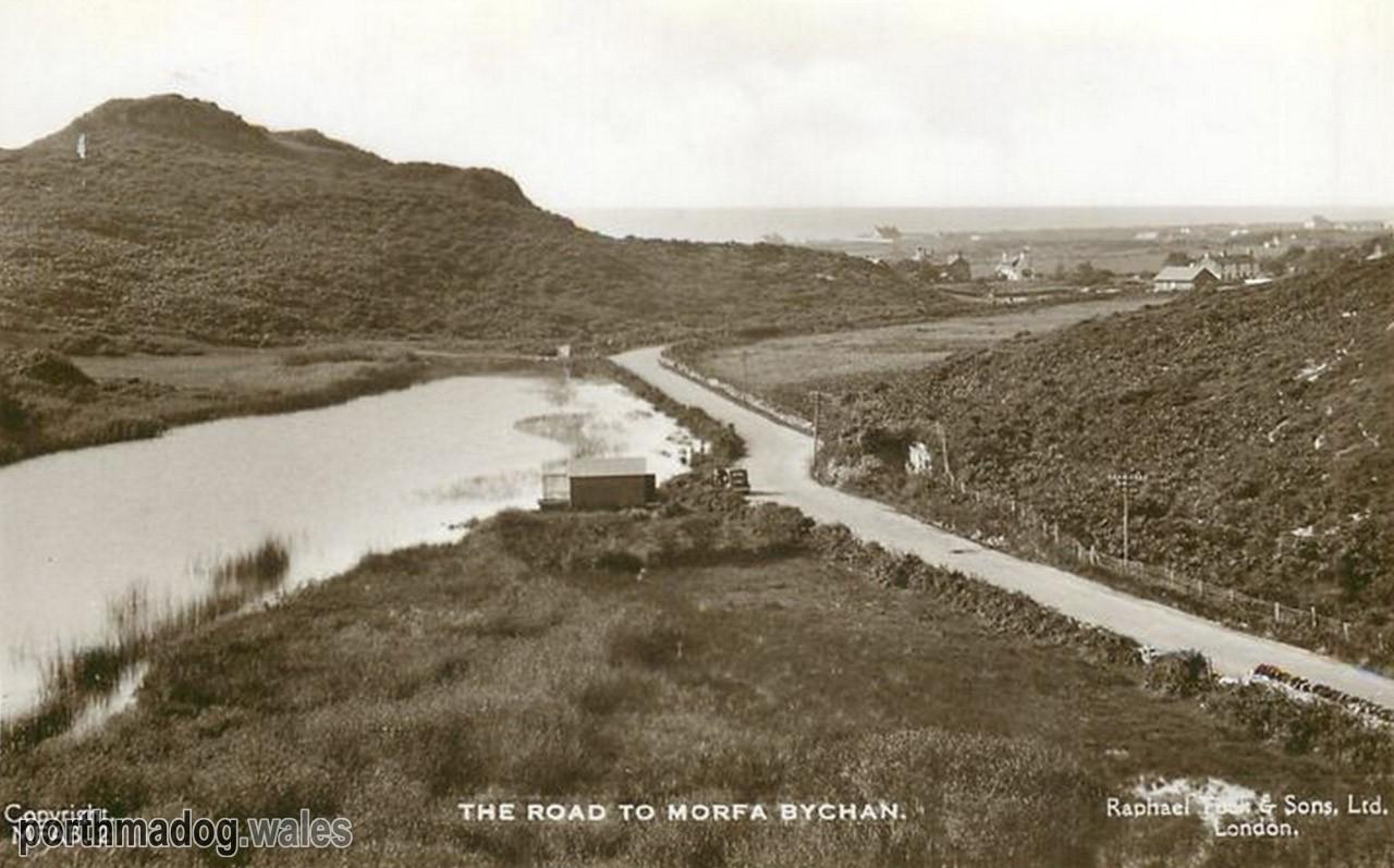Postcard of Morfa Bychan Road