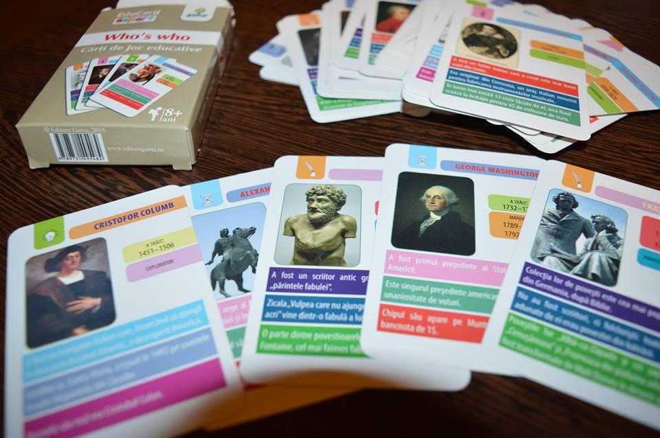 Who's who - Cărți de joc educative - Cum să înveți ușor, cu spor!