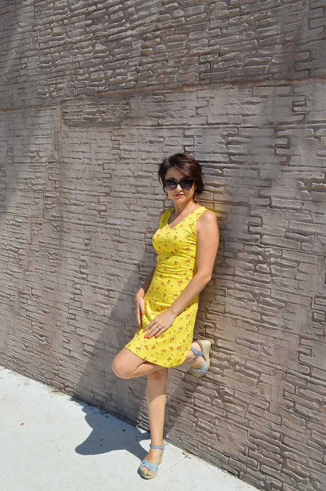rochie galbenă Bonprix