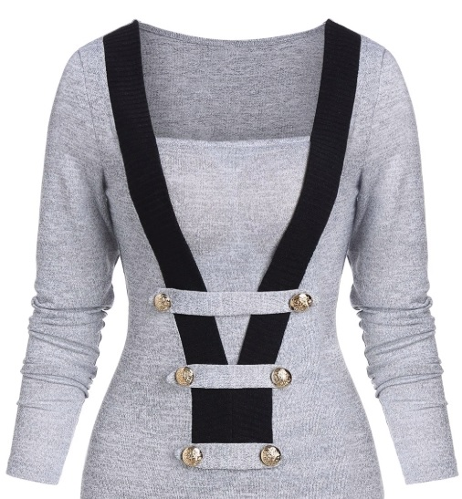 pulovere gri Dresslily