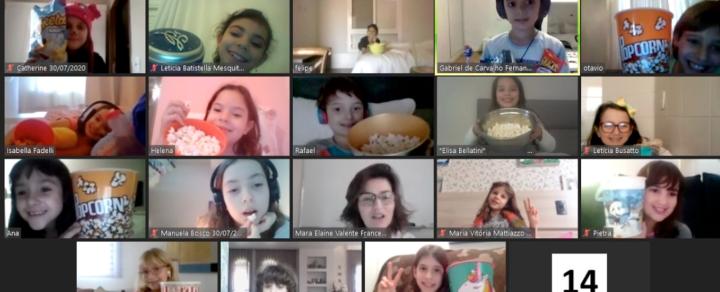 """Aula especial dos 3ºs anos une conhecimento e diversão com """"Festa do Pijama"""" virtual"""