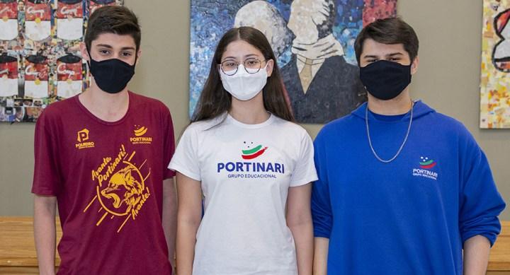 Três alunos do Portinari são premiados em concurso de redação