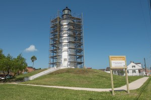 Point Isabel Lighthouse 2016 - 17 Texas Parks & Wildlife Department renovation.