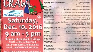 Port Jeff Village Holiday Shopping Crawl