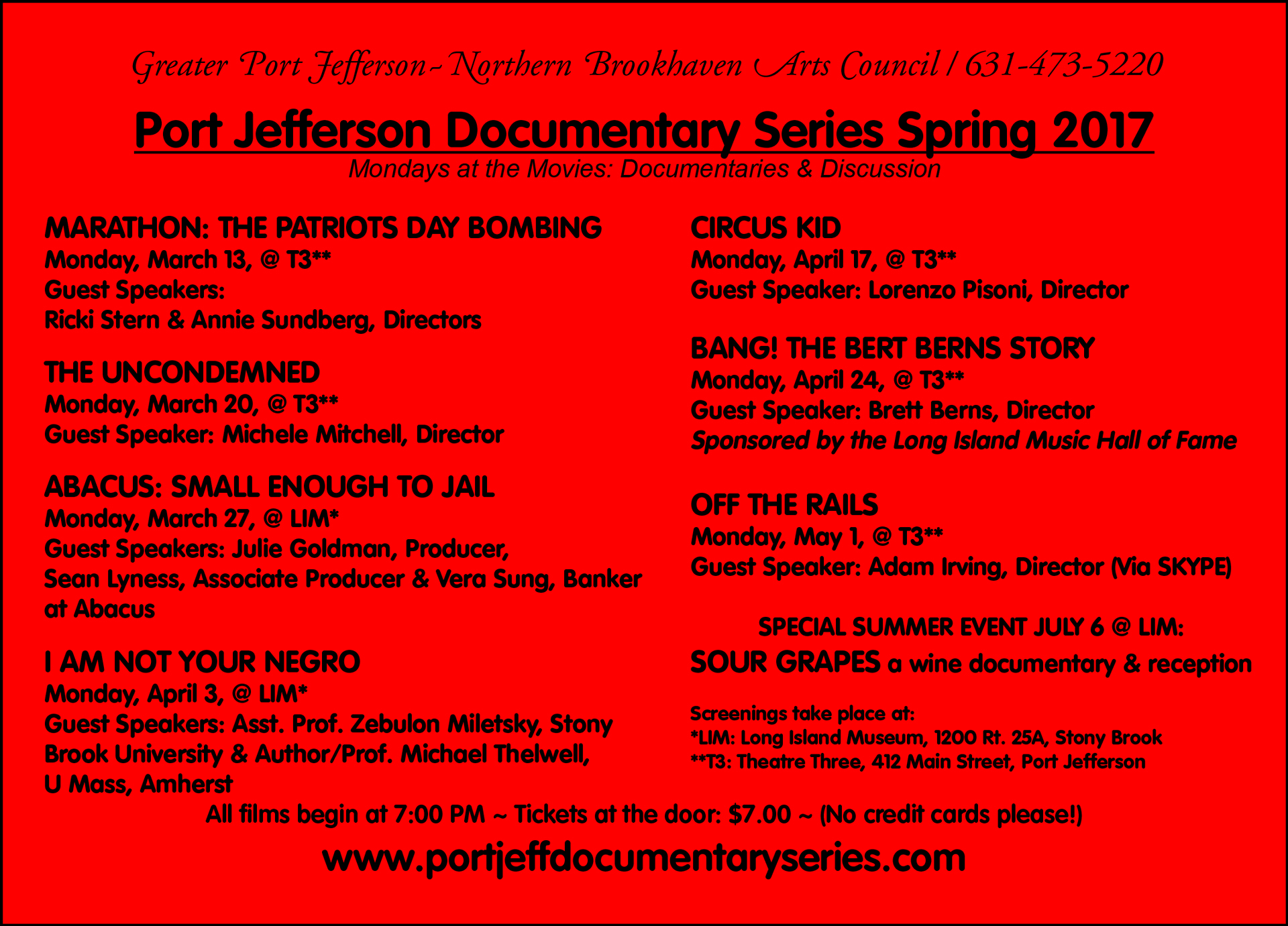 Spring 2017 Red Card port jeff documentary series