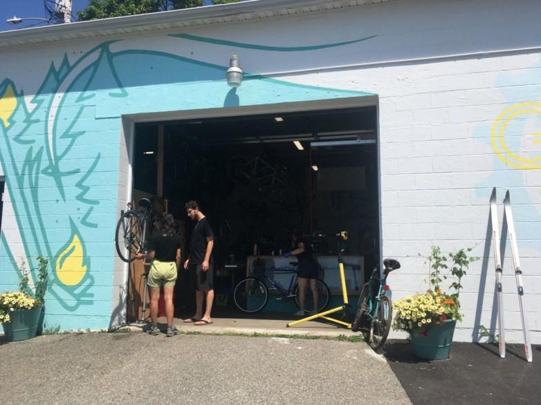 open door garage