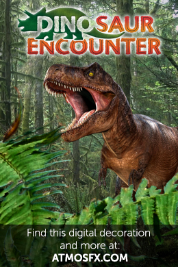 Dinosaur encounter. find this digital decoration and more at atmosfx.com