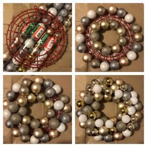diy ornament wreath $5