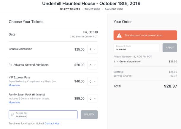 discount haunted house ticket description