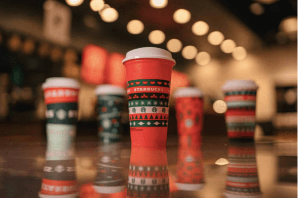 free reusable red cup starbucks