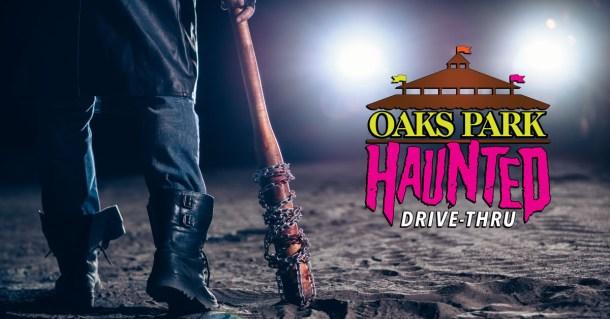 oaks park haunted drive thru